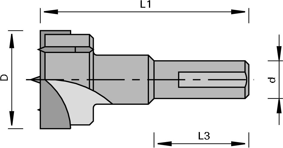 LEUCO - 172251 - Cylinder Boring Bits HW - Z=2+2
