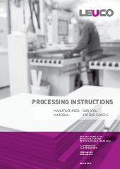Processing instruction Duropal Xtreme