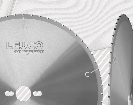 LEUCO nn-System is a diamond-tipped circular saw blade with small gullets. The technology, for which a patent has been filed for, considerably reduces noise in idle mode and during use. Due to the high demand for saw blades, this innovation is very important in the industry.