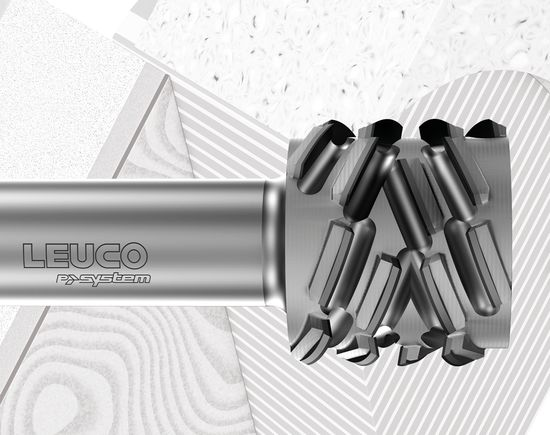 "For LEUCO p-System tools, the diamond-tipped blades are arranged at an axis angle of normally 70°, the wedge angle is greatly reduced. A technologically ingenious system that has made a name for itself in the industry and has made LEUCO a trend-setting company,"" is the reason the jury gave for its decision."