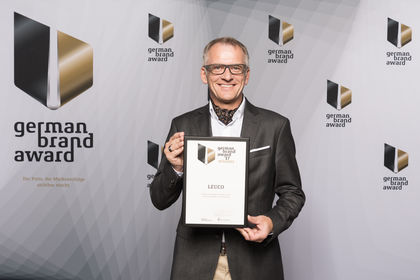 Wolfgang Maier, LEUCO Marketing Manager, accepted the German Brand Award at the award ceremony.
